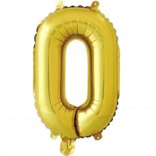 """Шар-буква """"О"""" золотая (41 см)"""