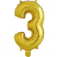 """Шар-буква """"З"""" золотая (41 см)"""