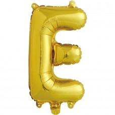 """Шар-буква """"Е"""" золотая (41 см)"""