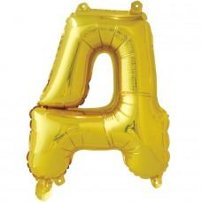"""Шар-буква """"Д"""" золотая (41 см)"""
