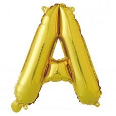 "Шар-буква ""А"" золотая (41 см)"