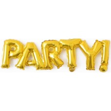 """Шар-фигура надпись """"Party"""" золото (107 см)"""