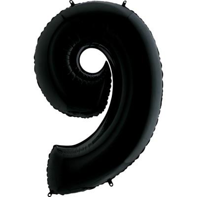 Цифра 9 черный (102 см)