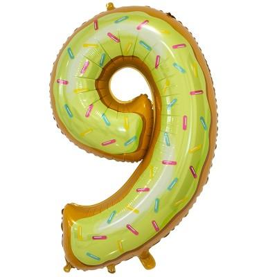 Цифра 9 пончик (86 см)