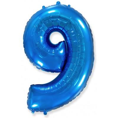 Цифра 9 синяя (102 см)