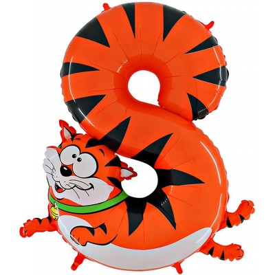 Цифра 8 кот (102 см)