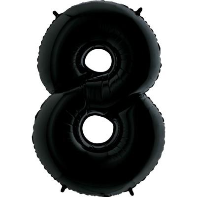 Цифра 8 черная (102 см)
