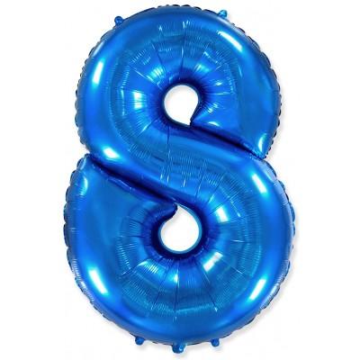 Цифра 8 синяя (102 см)