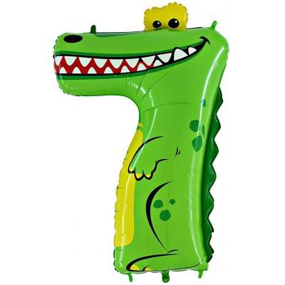 Цифра 7 крокодил (102 см)