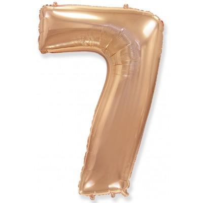 Цифра 7 розовое золото (102 см)