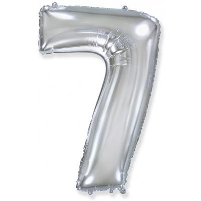 Цифра 7 серебро (102 см)