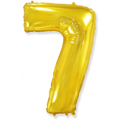 Цифра 7 золотая (102 см)