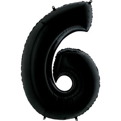 Цифра 6 черная (102 см)