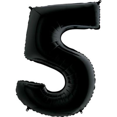 Цифра 5 черная (102 см)