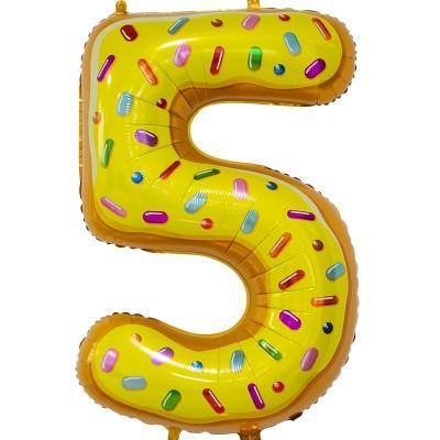 Цифра 5 пончик (86 см)