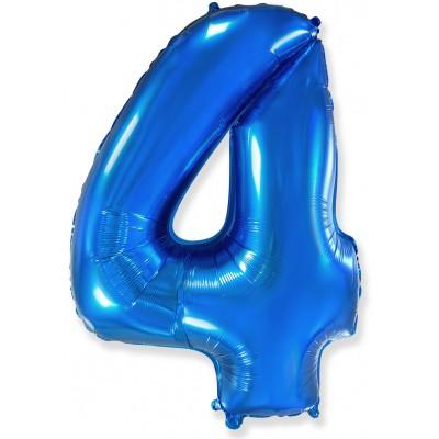 Цифра 4 синяя (102 см)