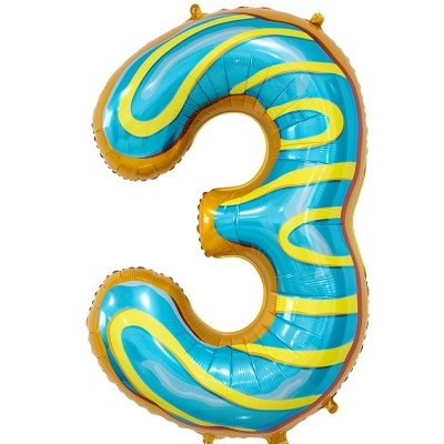 Цифра 3 пончик (86 см)