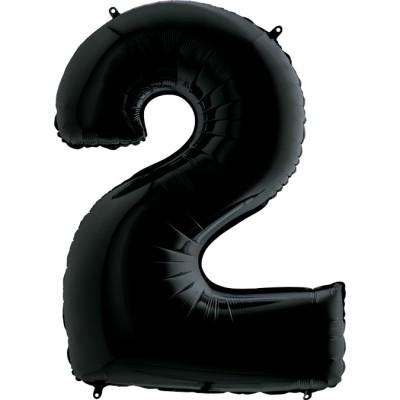 Цифра 2 черная (102 см)
