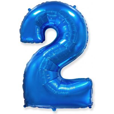 Цифра 2 синяя (102 см)