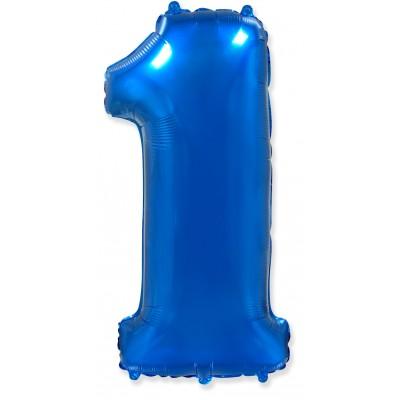 Цифра 1 синяя (102 см)