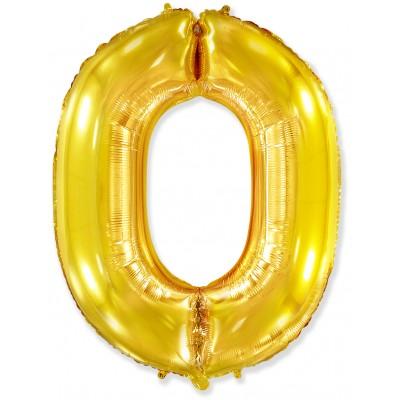 Цифра 0 золото (102 см)