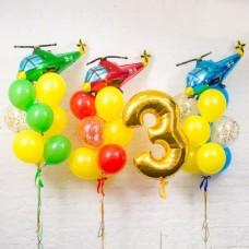 Композиция День рождения Мальчика Вертолётная команда