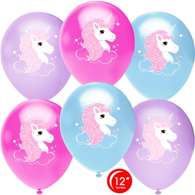 Воздушный шар Нежный единорог ассорти пастель (30 см)