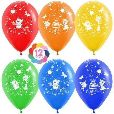 Воздушный шар Три кота (подарки) ассорти пастель (30 см)