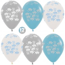 Воздушный шар Супер машинки ассорти пастель (30 см)