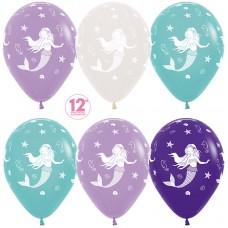Воздушный шар Русалочка ассорти пастель (30 см)