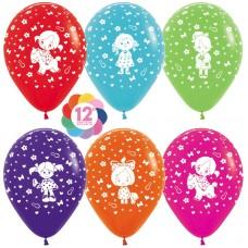Воздушный шар Девочка ассорти пастель (30 см)