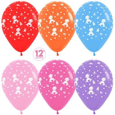 Воздушный шар Малышка девочка ассорти пастель (30 см)