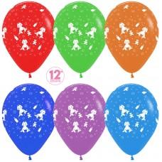 Воздушный шар Малыш мальчик ассорти пастель (30 см)