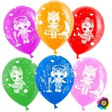 Воздушный шар Кукла ассорти пастель (30 см)