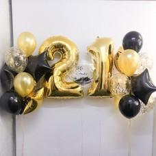 Композиция из шаров с цифрой №21