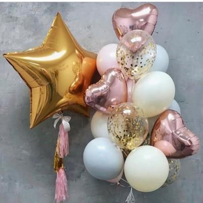 Композиция Набор шаров с фонтаном и звездой