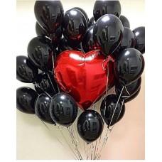Композиция воздушных шаров Black Love