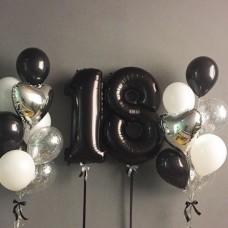 Композиция Набор шаров с цифрой №52