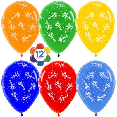 Воздушный шар Букеты ассорти кристалл (30 см)