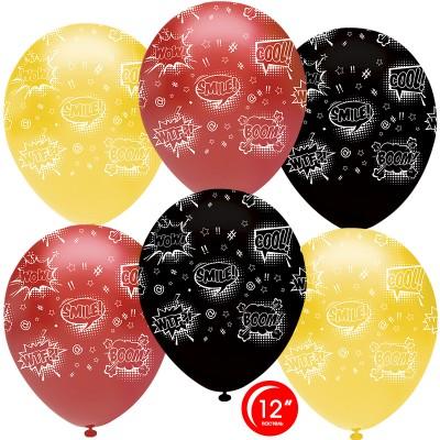 Воздушный шар Взрыв эмоций яркое ассорти пастель (30 см)
