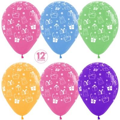 Воздушный шар Подарки ассорти пастель (30 см)