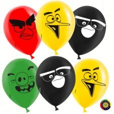 Воздушный шар Angry Birds ассорти пастель (30 см)