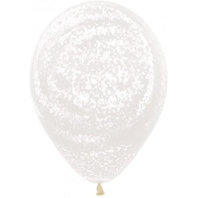 Воздушный шар Граффити ледяной узор прозрачный агат (30 см)