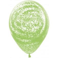 Воздушный шар Морозное граффити лайм агат (30 см)