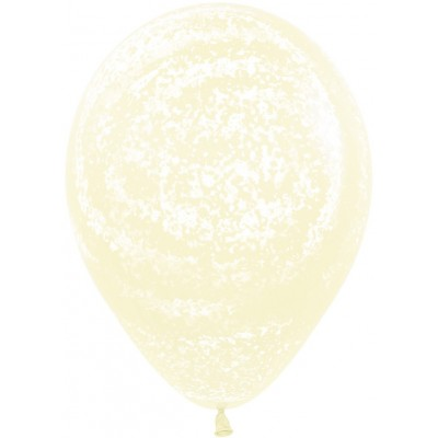 Воздушный шар Морозное граффити макарунс светло-желтый агат (30 см)