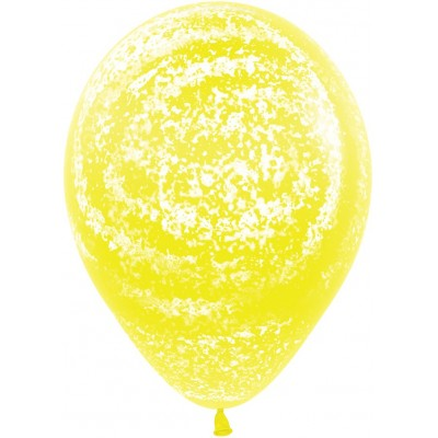 Воздушный шар Морозное граффити желтый агат (30 см)