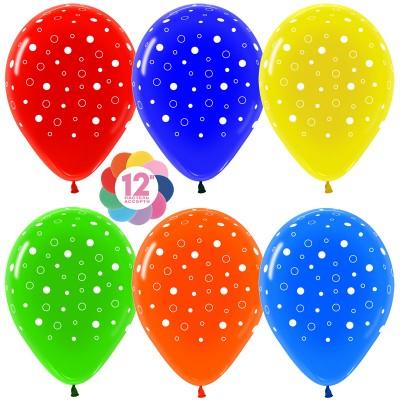 Воздушный шар Пузыри ассорти кристалл (30 см)
