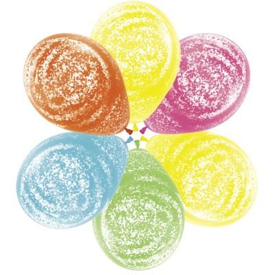 Воздушный шар Морозное граффити тропические краски ассорти агат (30 см)