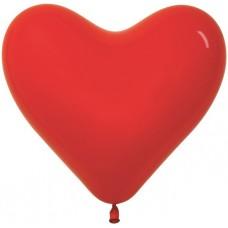 Воздушный шар- сердце красный пастель (30 см)