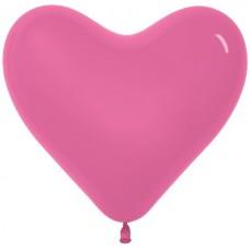 Воздушный шар- сердце фуше пастель (30 см)